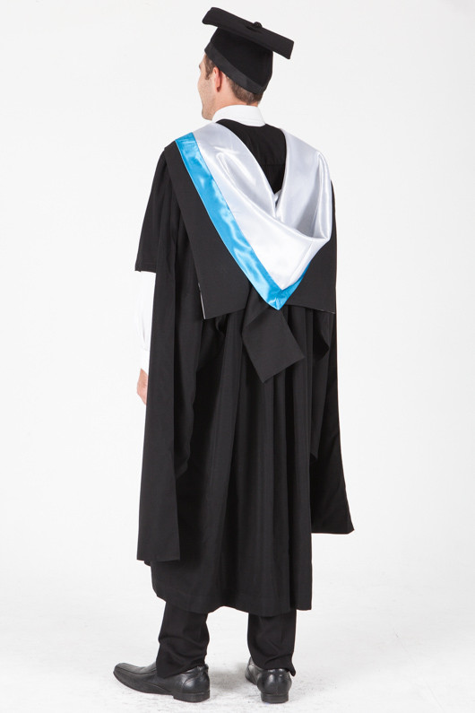 University of Sydney Masters Graduation Gown Set - Nursing - Back angle view