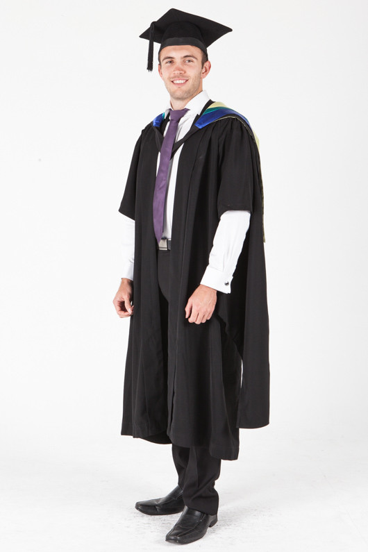 University of Sydney Masters Graduation Gown Set - Physiotherapy - Front angle view