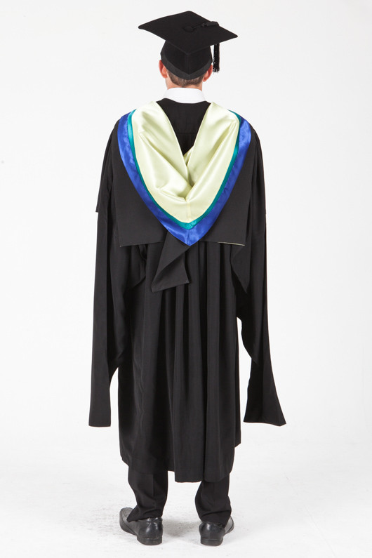 University of Sydney Masters Graduation Gown Set - Physiotherapy - Back view