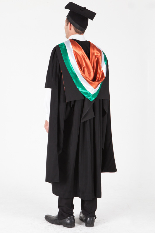 University of Sydney Masters Graduation Gown Set - Professional Accounting - Back angle view