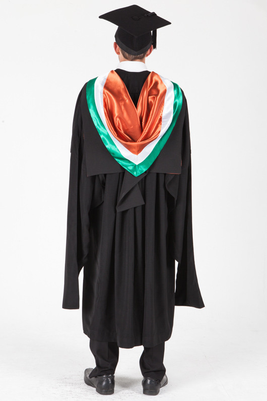 University of Sydney Masters Graduation Gown Set - Professional Accounting - Back view