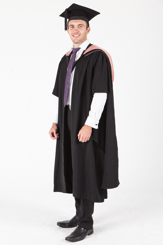 University of Sydney Masters Graduation Gown Set - Teaching - Front angle view