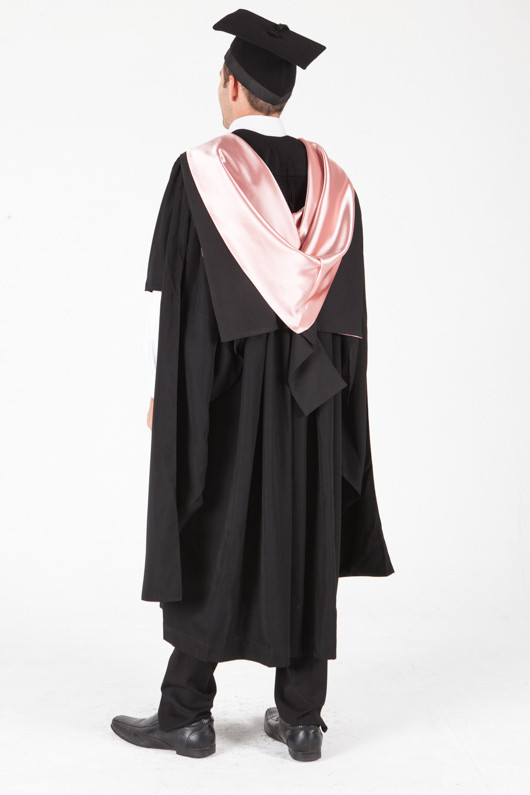 University of Sydney Masters Graduation Gown Set - Teaching - Back angle view