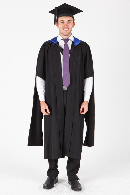 University of Sydney Masters Graduation Gown Set - Laws - Front view
