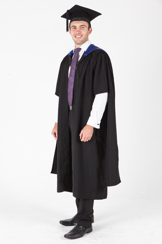 University of Sydney Masters Graduation Gown Set - Laws - Front angle view