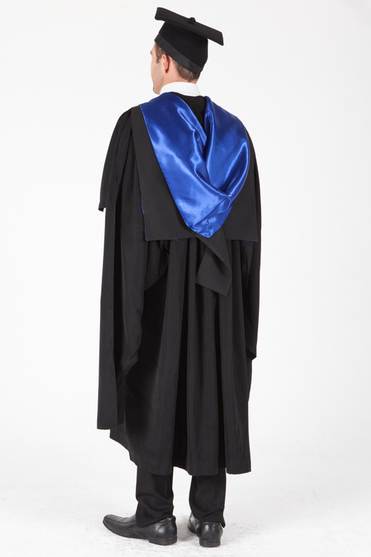 University of Sydney Masters Graduation Gown Set - Laws - Back angle view
