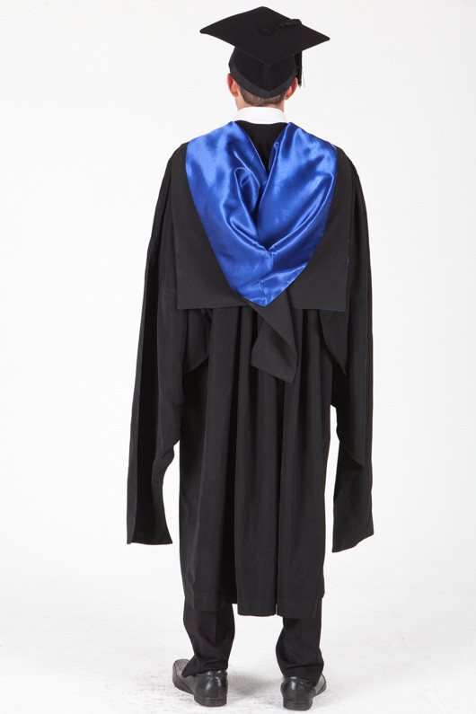 University of Sydney Masters Graduation Gown Set - Laws - Back view