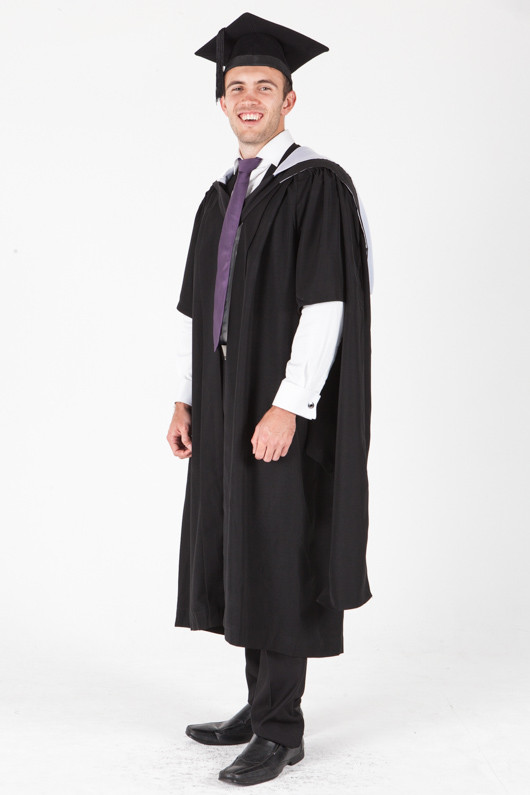 University of Sydney Masters Graduation Gown Set - Education - Front angle view