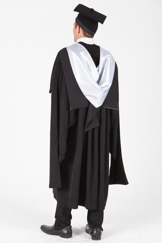 University of Sydney Masters Graduation Gown Set - Education - Back angle view