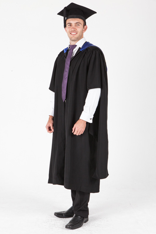 University of Sydney Masters Graduation Gown Set - Information Technology - Front angle view
