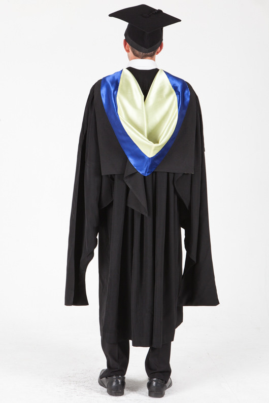 University of Sydney Masters Graduation Gown Set - Information Technology - Back view