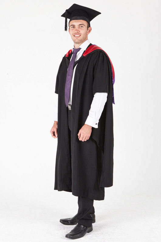 University of Sydney Masters Graduation Gown Set - Public Health - Front angle view