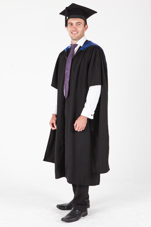 University of Sydney Masters Graduation Gown Set - Juris Doctor - Front angle view