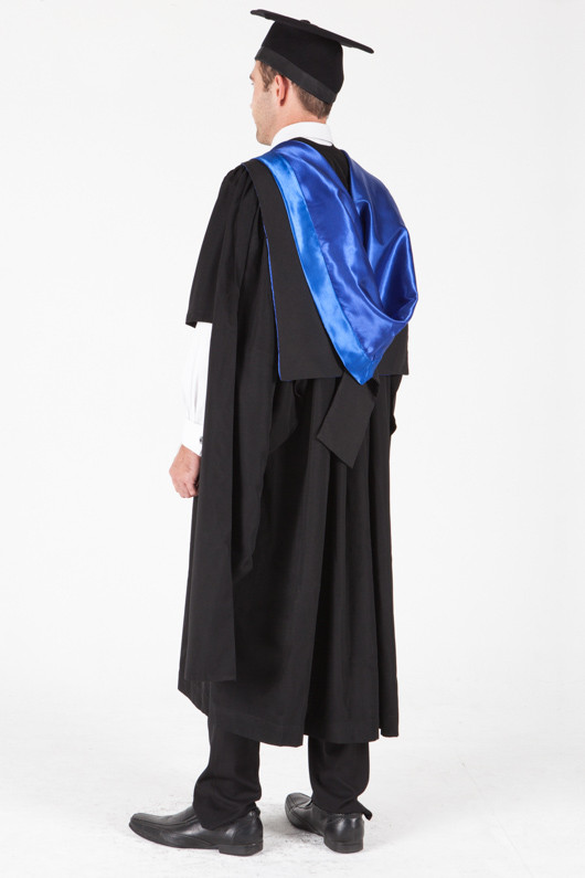 University of Sydney Masters Graduation Gown Set - Juris Doctor - Back angle view