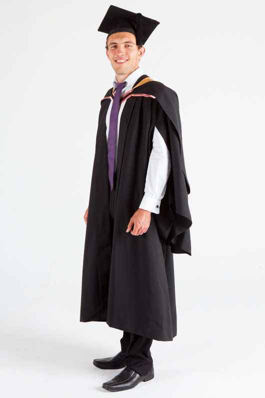 UNE Bachelor Graduation Gown Set - Social Science, Psychology and Criminology - Front angle view