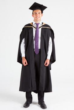 UNE Bachelor Graduation Gown Set - Science, Biomedicine, Exercise and Sport - Front view
