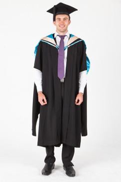 UNE Masters Graduation Gown Set - Business, Commerce and Economics - Front view