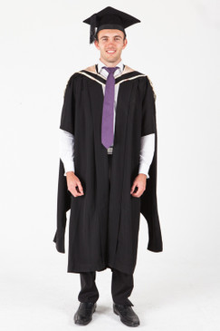 UNE Masters Graduation Gown Set - Science, Biomedicine, Exercise and Sport - Front view