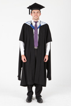 University of Canberra Masters Graduation Gown Set - Front view