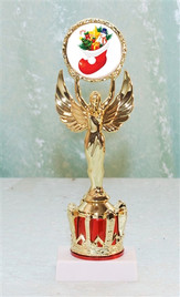 """9"""" tall Victory and Crown with Stocking insert"""