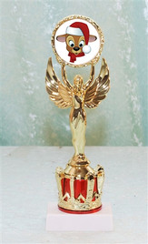 """9"""" tall Victory and Crown with Reindeer insert TR-Victory-rein2"""