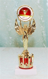 """9"""" tall Victory and Crown with Reindeer insert"""