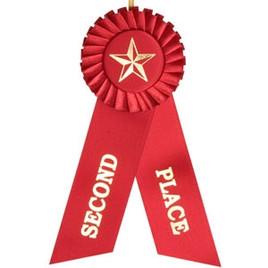 """3x8"""" Red Rosette Ribbon"""