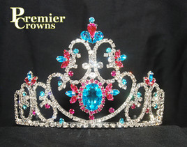"Gorgeous 4"" tiara with side combs.  SH-7000  (a32)"