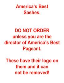 "America's Best Sashes - 60"""