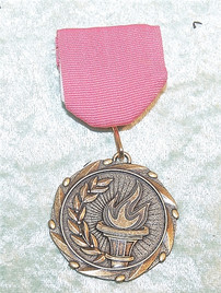 Clearance Lapel Medal.  Choice of ribbon color.  Engraving not available for medal.   M-M278-C