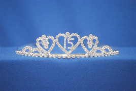 "Beautiful Quinceanera crown with side combs. 1.25"" tall"