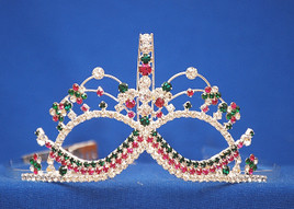 "Gorgeous 3"" mask tiara with side combs"