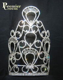 "Beautiful 10"" crown with adjustable band   jd-4922-10"