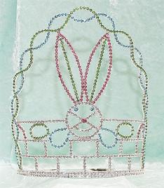 """8"""" Bunny in basket Adjustable band   JD-355"""