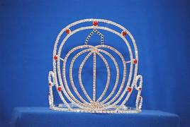 """6"""" pumpkin tiara with adjustable band"""