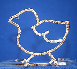 "3.5"" chick tiara with side combs   CR-02  d52"