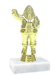 """Gold Santa on Base.  4.5"""" tall"""