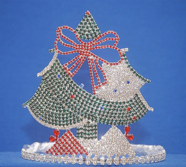 "Beautiful 6"" Tree with presents. Full of stones! Side combs"