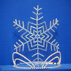 "Let it snow!! 8"" snowflake with adjustable band"