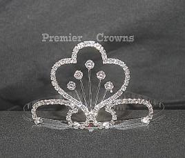 "2.5"" tiara with side combs - cc-1074  (b42)"