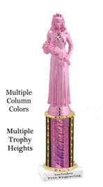 Pink Beauty Queen on column.  Multiple sizes and colors available