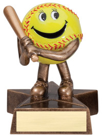 "Adorable Participation Trophy!  4"" Tall with free engraving.  DISCONTINUED"