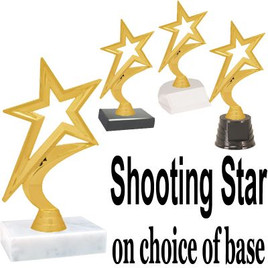 """6.5"""" tall Gold  Star figure on base  (fig5000)"""
