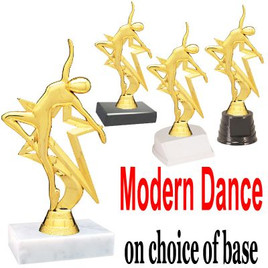 "6 1/2"" Modern Dance figure on choice of base.  (TR-5009)"