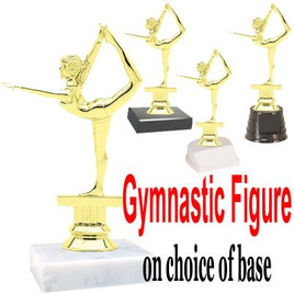 "5 1/2""  Gymnastic figure on choice of base.  (TR-2301)"