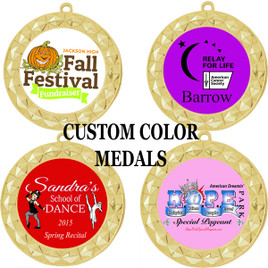 Custom Color Medal - upload your logo or artwork  (935)