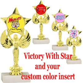 "7"" Victory with Star insert holder.  Upload your custom logo or art work"