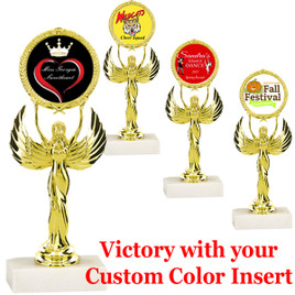 "6"" Victory with  insert holder.  Upload your custom logo or art work"