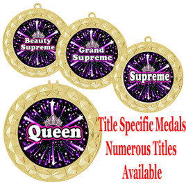 Medal with Title Specific insert.  Numerous titles available.  (m-hr935)