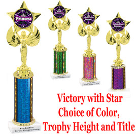 One column trophy with Title Specific insert.  Select trophy height, column color, base and Title. Numerous Titles available